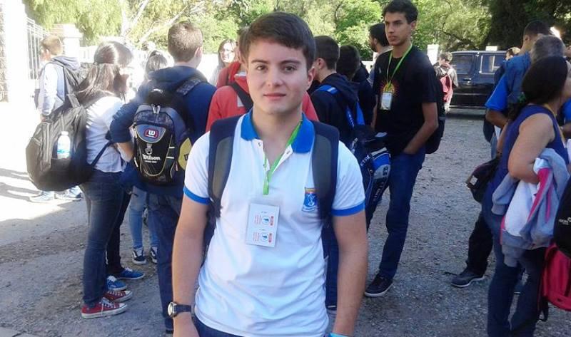 El alumno Mateo Joaquín Jesús Tournoud, de 4º Año del EESOPI Nº 8114  de Villa Ocampo