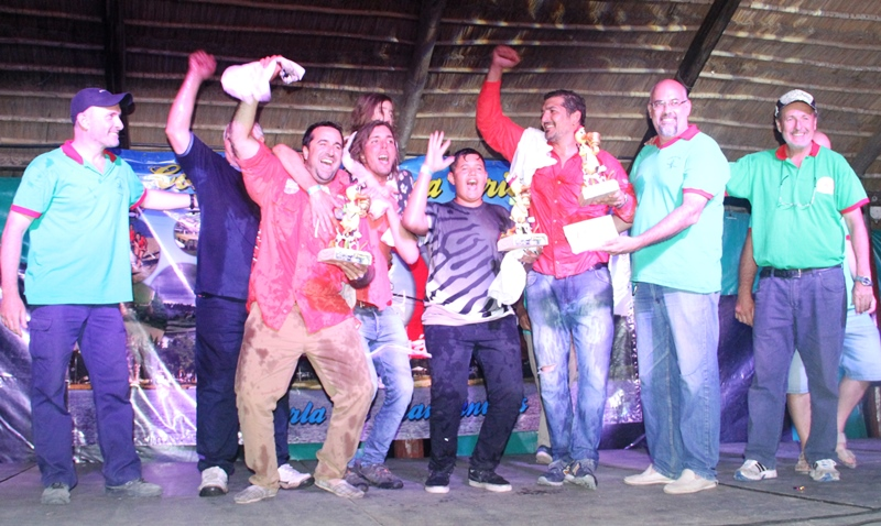 Los ganadores del concurso de pesca en Las Toscas
