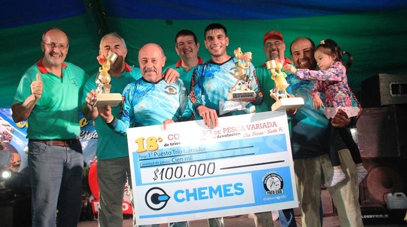 Los ganadores del 18° Concurso de pesca variada, Club Pato Cuá Las Toscas