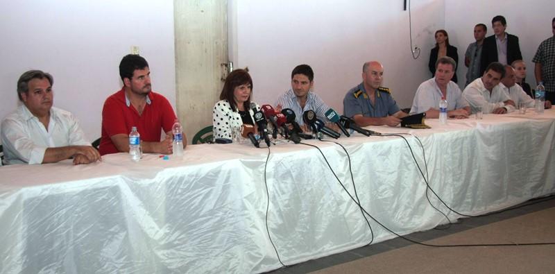 Durante la conferencia de  prensa ofrecida