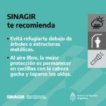 recomendaciones de prevención del SINAGIR ante tormentas anunciadas para el 8 y el 9 de abril 3