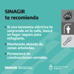recomendaciones de prevención del SINAGIR ante tormentas anunciadas para el 8 y el 9 de abril 4