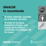 recomendaciones de prevención del SINAGIR ante tormentas anunciadas para el 8 y el 9 de abril 5